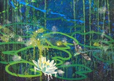 To Paint a Water Lily, after Ted Hughes